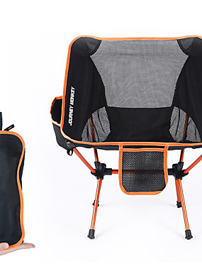 저렴한 스포츠 & 아웃도어-캠핑 접이식 의자 사이드 포켓 포함 다기능 울트라 라이트 (UL) 폴더 개고 7075알루미늄 메쉬 용 2 캠핑 여행 봄, 가을, 겨울, 여름 오렌지 루비 다크 블루
