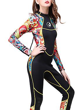 povoljno Sport és outdoor-HISEA® Žene Dugo mokro odijelo 3mm SCR Neopren Ronilačka odijela Ugrijati Vodootporni patent Dugih rukava Povratak Zipper Jednobojni Proljeće Zima