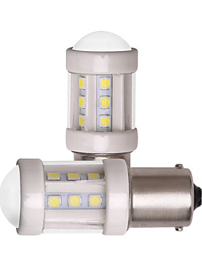abordables Luces de marcha atrás-2 unids 1156 ba15s 1157 bay15d car led bombillas súper brillante 7w 12v 24v smd 3030 18 led lámpara cerámica blanco para intermitentes luz de freno luz de estacionamiento cola de estacionamiento luces