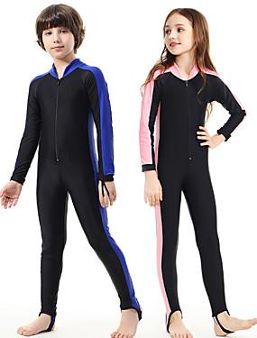 povoljno Sport és outdoor-SBART Dječaci Djevojčice Ronilačko odijelo kože 1mm Ronilačka odijela SPF 50 UV zaštitu od sunca Quick dry Kompletna maska Prednji Zipper - Plivanje Ronjenje Kolaž Proljeće Ljeto Jesen / Dječji