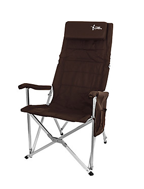 cheap Sports & Outdoors-Camping Chair with Side Pocket with Pillow Portable Anti-Slip Foldable Comfortable Aluminum Alloy for 1 person Camping Camping / Hiking / Caving Traveling Picnic Autumn / Fall Spring Orange Coffee Red