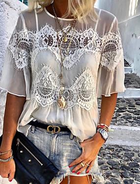 povoljno Ženske majice-Majica s rukavima Žene - Ulični šik Dnevno Jednobojni Obala
