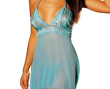 cheap Sale-Women's Plus Size Super Sexy Babydoll & Slips Nightwear Solid Colored Purple / Blue / Pink M XL XXL