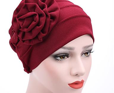 cheap Women's Accessories-Women's Beanie / Slouchy Flower Street Dailywear Casual Wine Black Pure Color Hat / Khaki / Fall / Winter / Spring