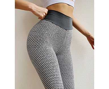 cheap Women's Bottoms-Women's Yoga Pants High Waist Tights Leggings Bottoms Scrunch Butt Ruched Butt Lifting Fashion Tummy Control Butt Lift 4 Way Stretch Purple Red Blushing Pink Yoga Fitness Gym Workout Spandex Polyester