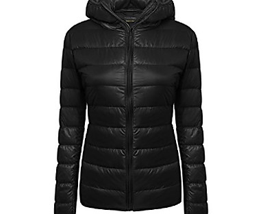 cheap Down& Parkas-Women's Down Fall Winter Daily Outdoor clothing Coat Casual Jacket Long Sleeve Classic Solid Color Lake blue Navy Wine Red / Lined