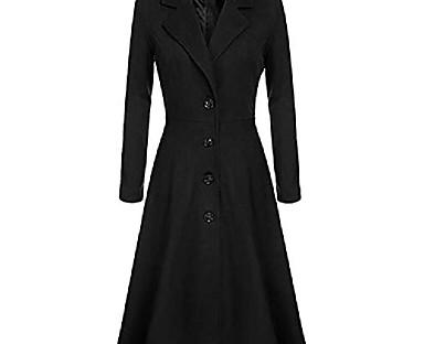 cheap Women's Outerwear-Women's Trench Coat Fall Winter Spring WorkWear Daily Wear Date Regular Coat V Neck Slim Elegant & Luxurious Jacket Long Sleeve Vintage Style Solid Color Purple khaki White
