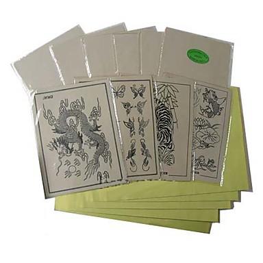 10 x tatuaggio pelli pratica e 20 di trasferimento cassetti carta