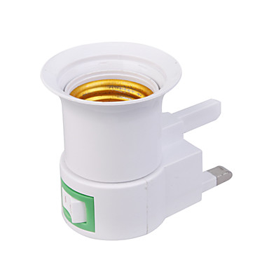 UK Plug AC Power to E27 LED Bulbs Socket Adapter (110-240V)