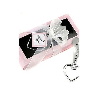 in forma de inima deschizător de bere de argint în cutie roz