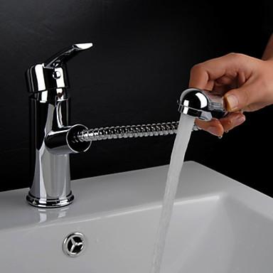 Banyo Lavabo Bataryası - Sprey Uzatma Borusu Krom Tek Gövdeli Tek Kolu Bir Delik