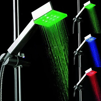 Contemporary Hand Shower Chrome Feature for  LED , Shower Head