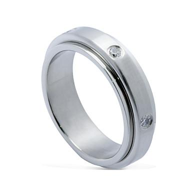 man mode gedraaid titanium stalen ring