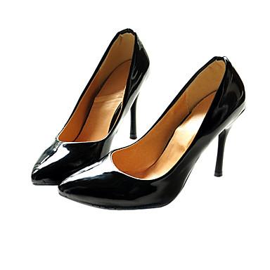 kunstlæder patentansøgninger øverste Stiletto Heel pumper bryllup / fest shoes.more farver
