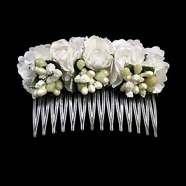abordables Bijoux de Cheveux-Acier inoxydable Papier Peignes 1 Mariage Occasion spéciale Décontracté Casque