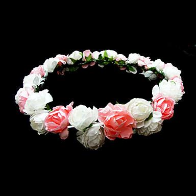 abordables Bijoux de Cheveux-belle fleur de mariage de papier fille couronne de fleurs / casque