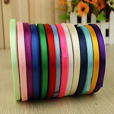 Luova Yhtenäinen väri Nauha Satiini Häät Nauhat Kukin / Set Satin Ribbon Ainutlaatuinen hääkoristelu Decorate favor holder Decorate gift