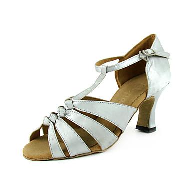 mulheres de cetim sapatos de dança de salão superior sapatos latin