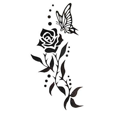 Acțibilde de Tatuaj Serie de Flori Model Waterproof Dame Girl Adolescent tatuaj flash Tatuaje temporare