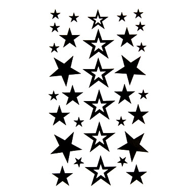 #(5) Tatuaggi Adesivi Tatuaggi Temporanei Serie Di Cartoni Animati Comodo - Monouso Arti Del Corpo Braccio - Tatuaggi Temporanei Stile Decalcomania - Autoadesivo Del Tatuaggio #00226014