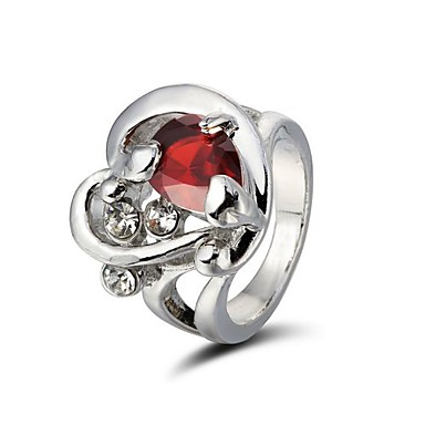 Gorgeous Rhinestones Ring Alloy Plated More Colors Available