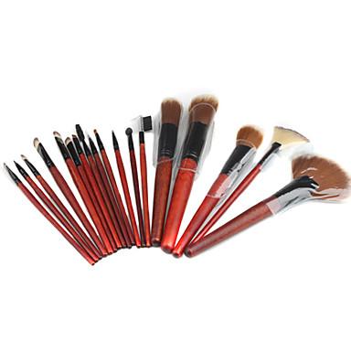 profesionalni make-up kistovi set s kožnom torbicom (18-dijelni set)
