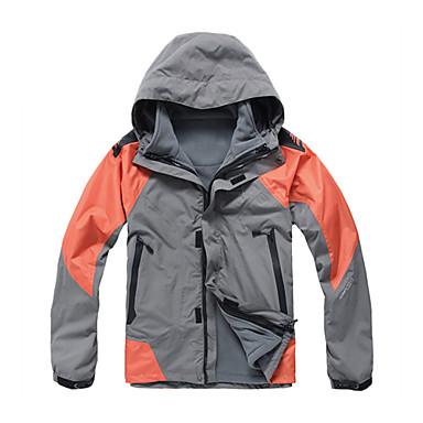 eamkevc - heren triple layer ademend waterdicht ski-jack contrasterende kleur drie-in-een