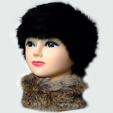 Convertible Rabbit Fur Headband Scarf