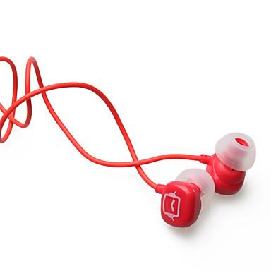 aislamiento de ruido en la oreja los auriculares estéreo (rojo jack de 3,5 mm / 112cm de cable)