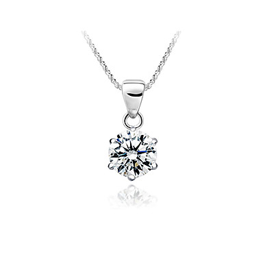 Shining 925 Sterling Silver/Rhinestone Pendant With Platinum Plating