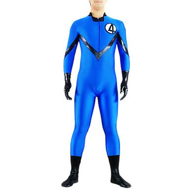 Zentai Kıyafetleri Ninja Zentai Cosplay Kostümleri Mavi Solid Strenç Dansçı / Tulum Kedikıyafeti Zentai Likra Erkek Kadın's Cadılar