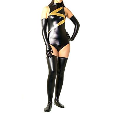 Kiiltävät Zentai asut Ninja Zentai Cosplay-asut Yhtenäinen Trikoot / Kokopuku Käsineet Sukat Spandex Naisten Halloween