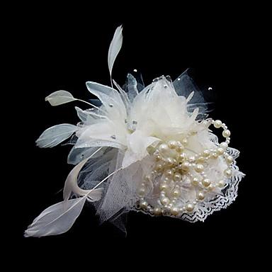 Cristal Pena Tecido Cetim Tiaras Fascinadores Flores 1 Casamento Ocasião Especial Festa / Noite Capacete