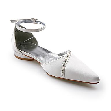 mariée de 00052181 chaussures de qualité satin mariage supérieure supérieures strass bas de avec à talons sandales OOZrnq7
