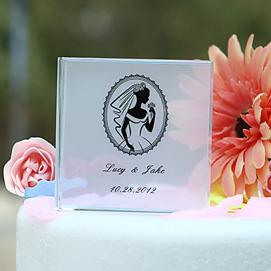toppers τούρτα εξατομικευμένο κρύσταλλο με τούρτα ημίψηλο πορτρέτο της νύφης