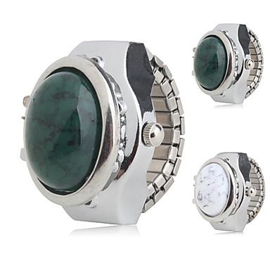 Kadın's Quartz Yüzük Saat Japonca Gündelik Saatler Alaşım Bant İhtişam Gümüş