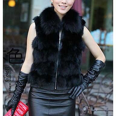 col de fourrure sans manches, le renard de carrière / occasionnel veste (plus de couleurs)