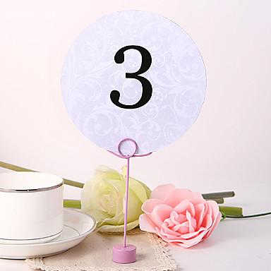Papel perlado Números de mesa Bolsa de Poliéster 10
