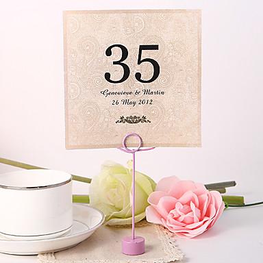 billige Bordkort og holdere-Blomst Materiale Perle-papir Bordkort Holdere Bordnummer Kort Andre Bryllup Polyester Veske