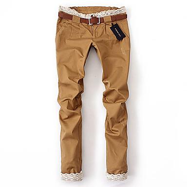 Low Rise Inelastic Pants Cotton All Seasons
