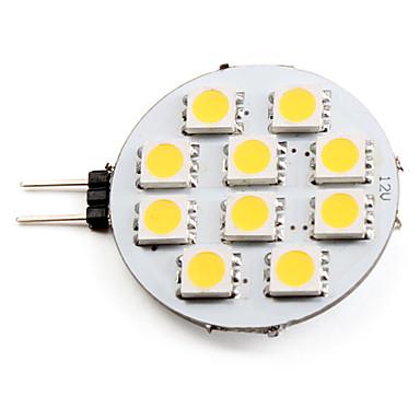billige Bi-pin lamper med LED-LED-spotpærer 2700 lm G4 10 LED perler SMD 5050 Varm hvit 12 V
