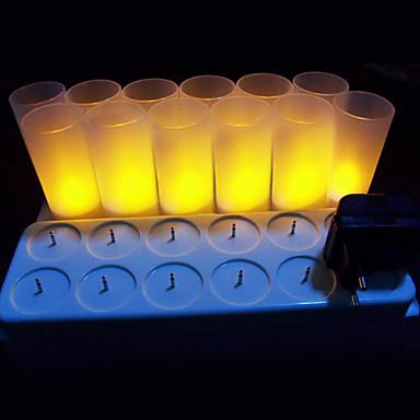 LED Λάμπες Κεριά LEDs LED Επαναφορτιζόμενο / Διακοσμητικό 12pcs