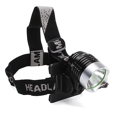 LED Lommelygter / Hovedlygter Tilstand 1200 Lumens Cree XM-L T6 18650 Cykling - Andre , Sort Rustfrit Stål