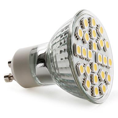 2800 lm GU10 Spot LED MR16 24 diodes électroluminescentes SMD 5050 Blanc Chaud AC 220-240V
