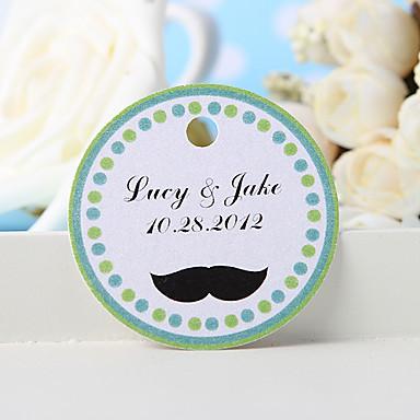 εξατομικευμένη ετικέτα χάρη - μουστάκι (σύνολο 36) γαμήλιες εύνοιες όμορφη