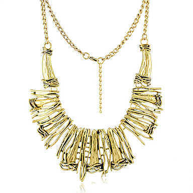 Fashion And Special Gold Alloy Platinum Necklace