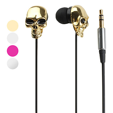 Headphone 3.5mm In Ear All-in-1 Metallic Skull Style for iPhone 6/iPhone 6 Plus (Assorted Colors)