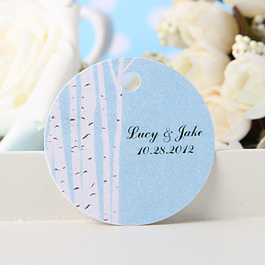 kişiselleştirilmiş lehçe etiketi - beyaz ağaç (36 kümesi) düğün iyilikleri