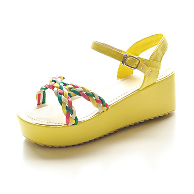 simili-cuir avec des sandales plates-formes chaussures de sport avec sangle tressée (plus de couleurs)
