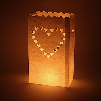 voordelige Feestbenodigdheden-Kaars & Houder Materiaal / HardKaart Paper Bruiloftsdecoraties Bruiloft / Feest Vegas Thema / Bruiloft Lente / Zomer / Herfst